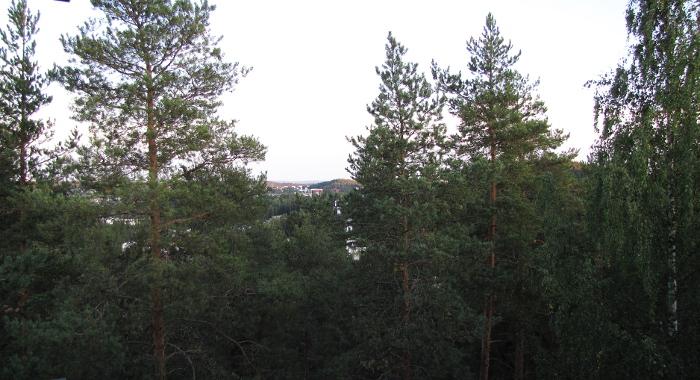 näkymä Jyväskylän keskustaan hotellista