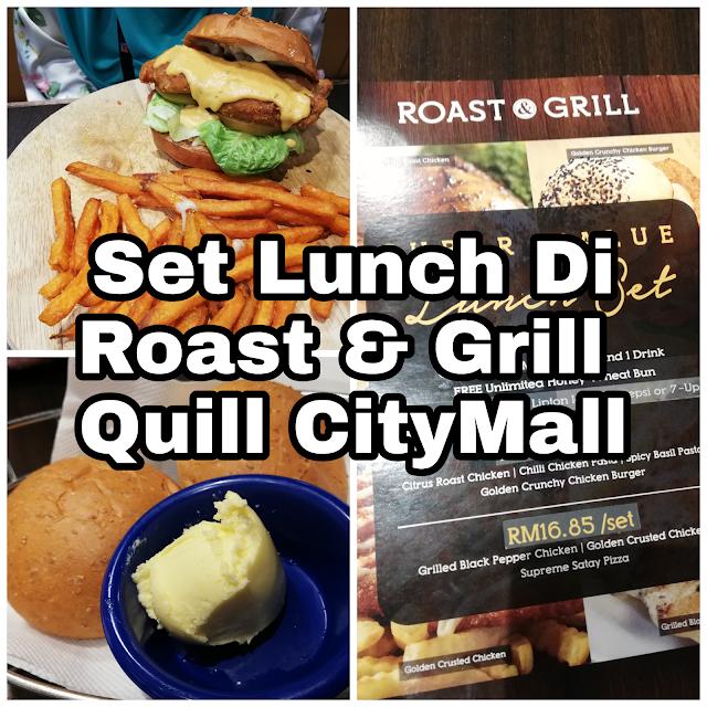Makanan Western murah waktu tengahari dekat Quill City Mall