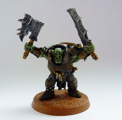 Ironjawz Brute with two brute choppas
