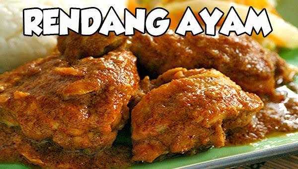 resep rendang ayam padang lezat bumbu pedas Resepi Rendang Daging Jawa Enak dan Mudah