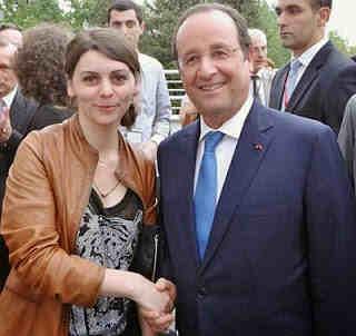 Nino en compagnie de François Hollande