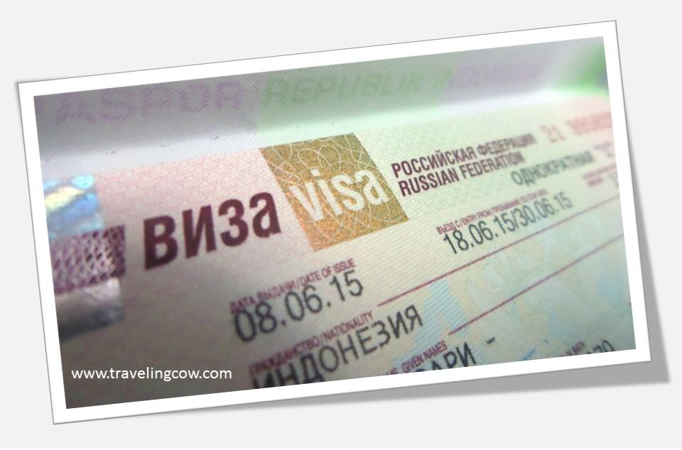 The Traveling Cow Mengajukan Visa Rusia