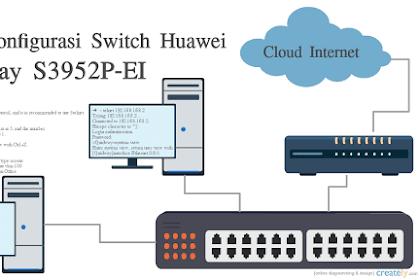 Cara Konfigurasi Switch Huawei Quidway S3952P-EI