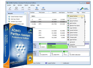 AOMEI Partition Assistant Software Gratis Untuk Partisi Harddisk