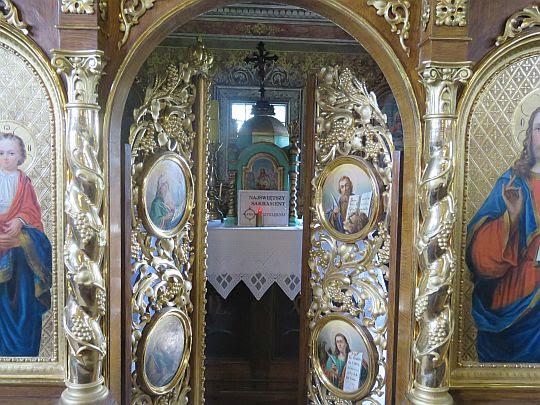 Prezbiterium widziane przez carskie wrota.