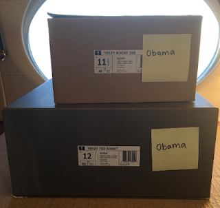 KANYE WEST SENDS YEEZY SNEAKERS GIFT TO OBAMA