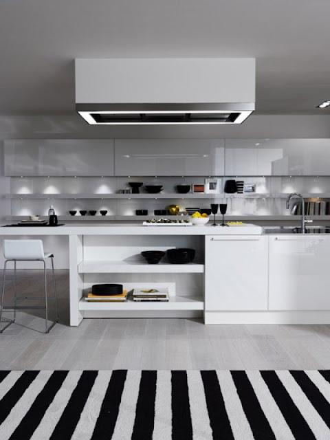 Esempio di cappa a soffitto, cappa per cucine