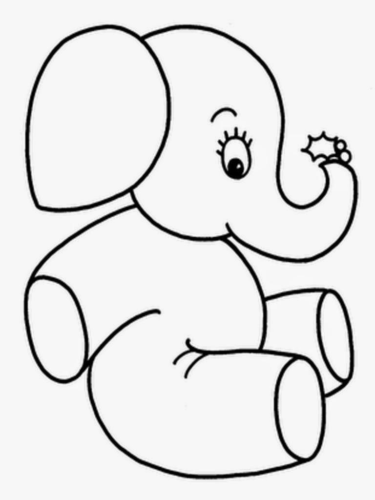 Kumpulan Sketsa Bergambar Gajah