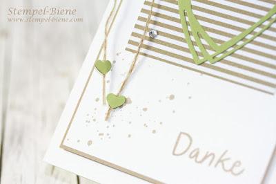 Dankeskarte Hochzeit; Stampin' Up Grüße voller Sonnenschein; Stampin' Up Katalog 2016-2017; Stampin' Up Sonderangebote; Stampin' Up Sammelbestellung; Stampin' Up Flohmarkt; Stempel-Biene