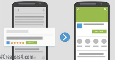 فهرسة التطبيقات هي نظام يتيح لمستخدمي الجوال العثور على تطبيقك في نتائج بحث غوغل في شكل زر تثبيت . عندما يقوم مستخدم ببحث عن كلمات مفتاحية خاصة بتطبيقك فإنه يقوم النظام بإعادة توجيه المستخدم إلى غوغل بلاي أو أب ستور