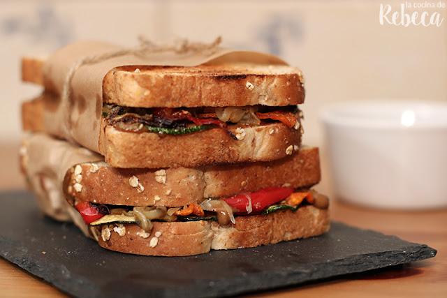 Sándwich de verduras asadas #SándwichDeAutor
