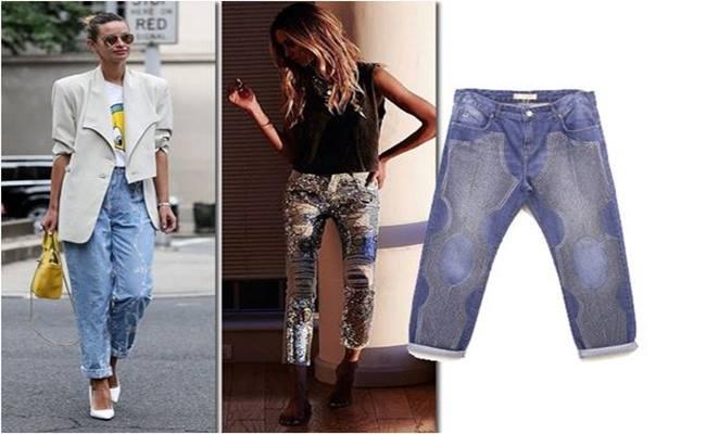 BORDADO em Calça Jeans