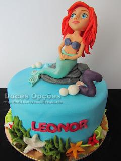 A Pequena Sereia foi ao 5º aniversário da Leonor