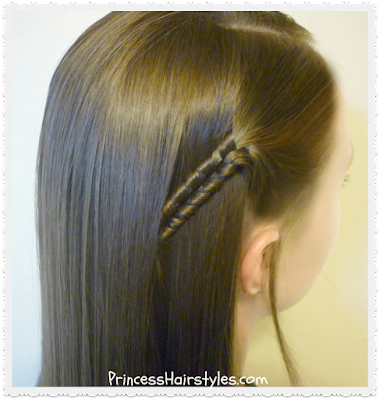 Infinity braid side accent hairstyle.  Back to school hairstyle ideas.