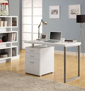 L Shaped Desk White
