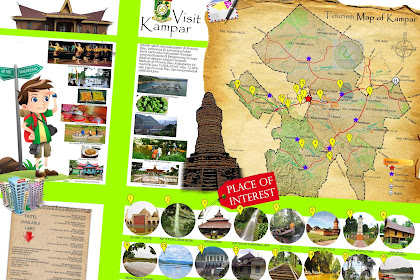 Peta Wisata Kabupaten Kampar - Tourism Map of Kampar - Riau - Indonesia