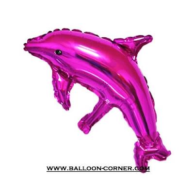 Balon Foil Dolphin Mini Pink