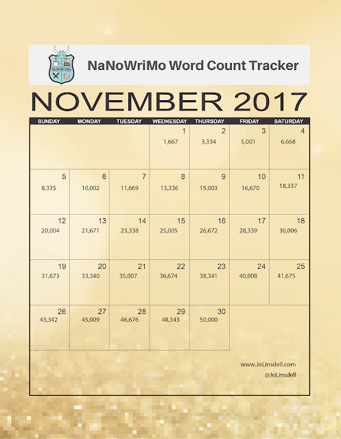 #NaNoWriMo 2017 Word Count Tracker