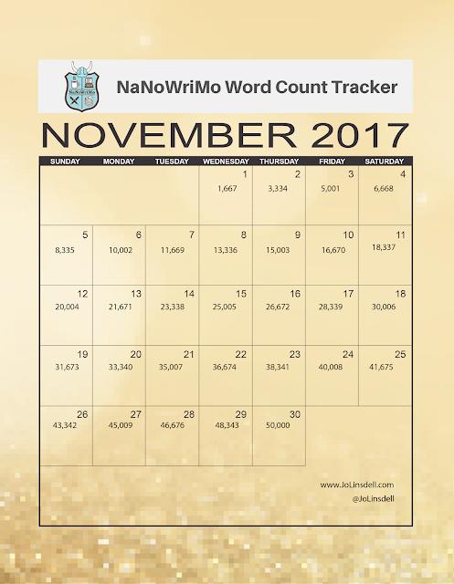 #NaNoWriMo 2017 Word Count Tracker