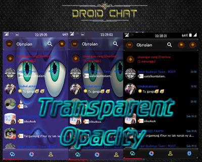 BBM MOD Droid Chat! Transparan