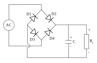 Diode bridge rectifier circuit