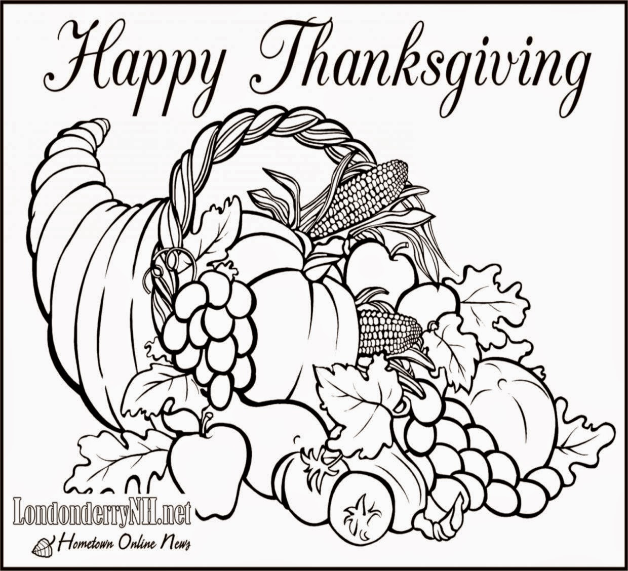 Thanksgiving Pictures To Color And Print Free