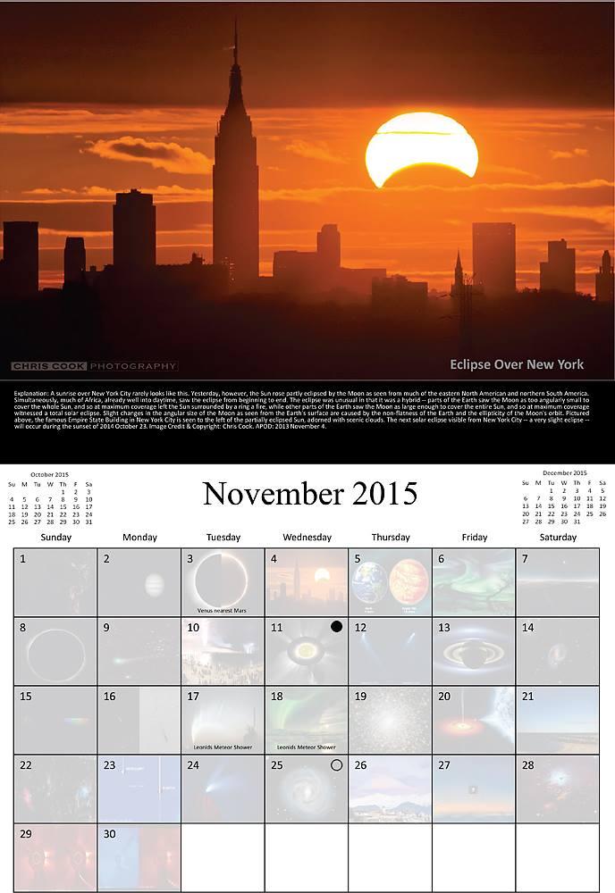 Chris Cook Photography: NYC eclipse photo makes NASA calendar!
