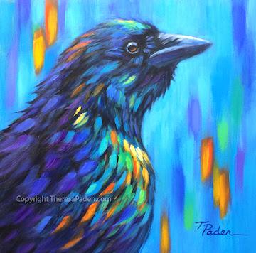 california artwork colorful bird paintings by theresa paden