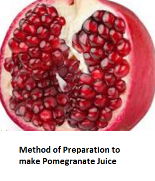 Method of Preparation to make Pomegranate Juice