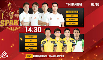 Sparta vs Nghệ An + Kamachi   4vs4 Random   02-06-2020