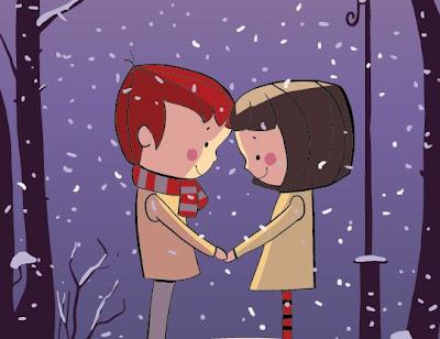 vectores de parejas de enamorados
