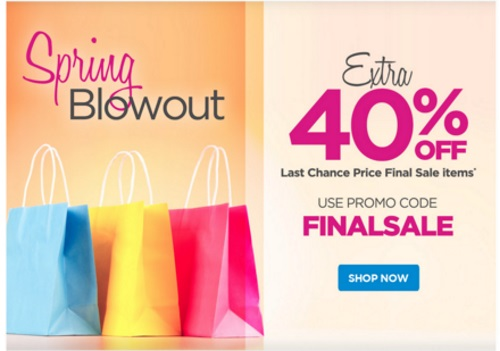 The Shopping Channel Spring Blowout Extra 40% off Last Chance Final Sale Items Promo Code