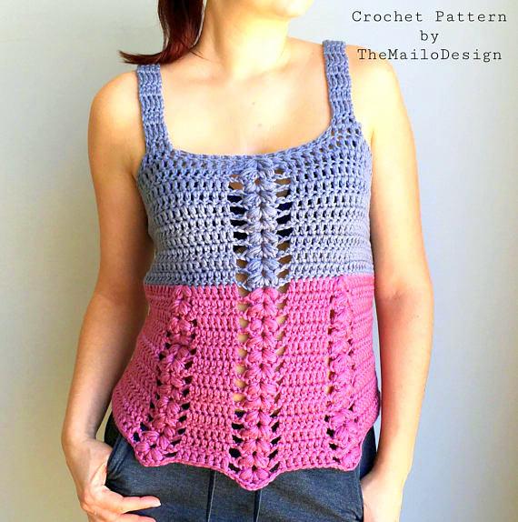 sleeveless summer shirt crochet pattern