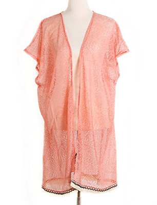 Peach Apricot boho bohemian hippie kimono shawl - $19.99 Affordable Springtime Bohemian Fashion {Pastel Bohemian, Springtime Boho Fashion and Accessories, Bohemian Easter}