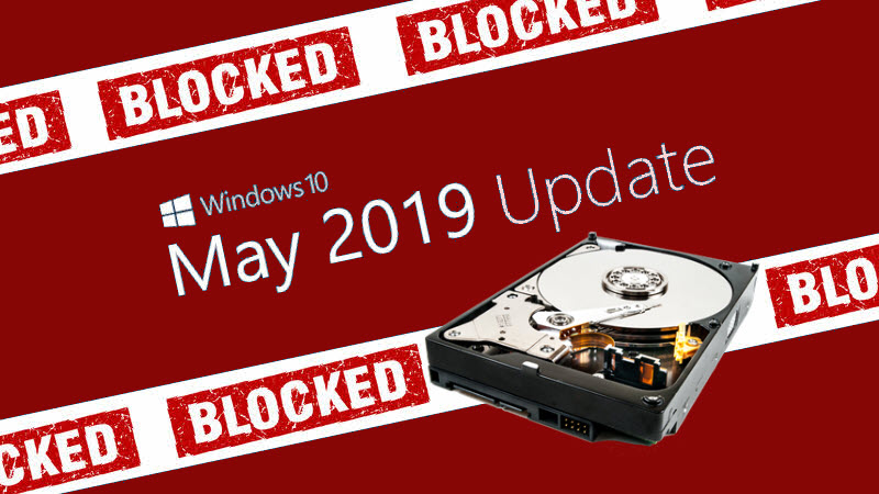 Windows 10 May 2019 Update won't install on devices having small storage. Did you meet the minimum requirement?