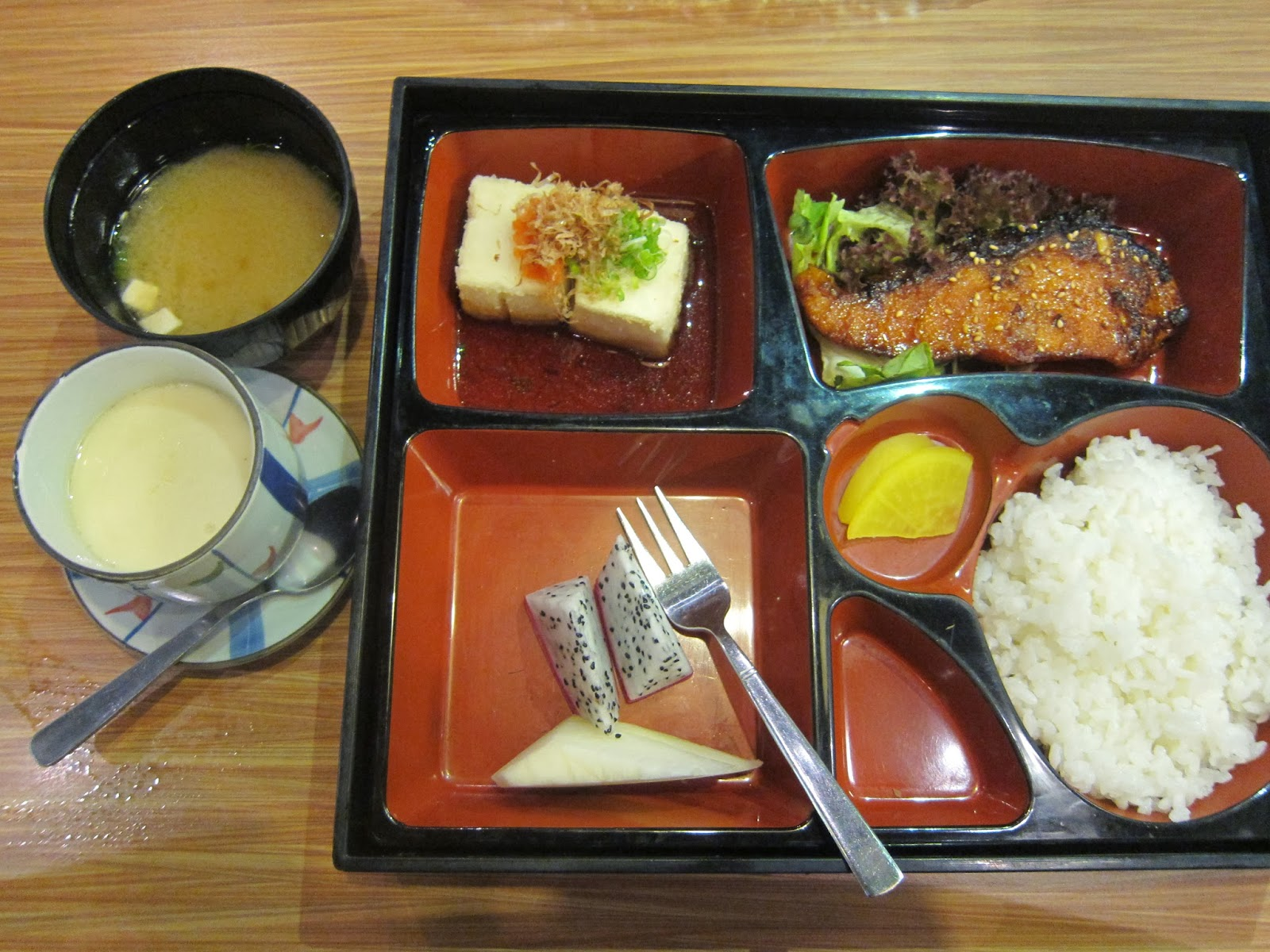 Salmon Teriyaki Bento Set