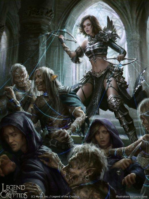 Laura Sava anotherwanderer deviantart arte ilustrações fantasia card game legend of the cryptids mulheres beleza