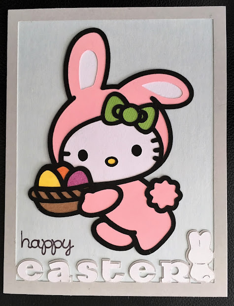 Scrap-ali Kitty Easter Bunny Cards