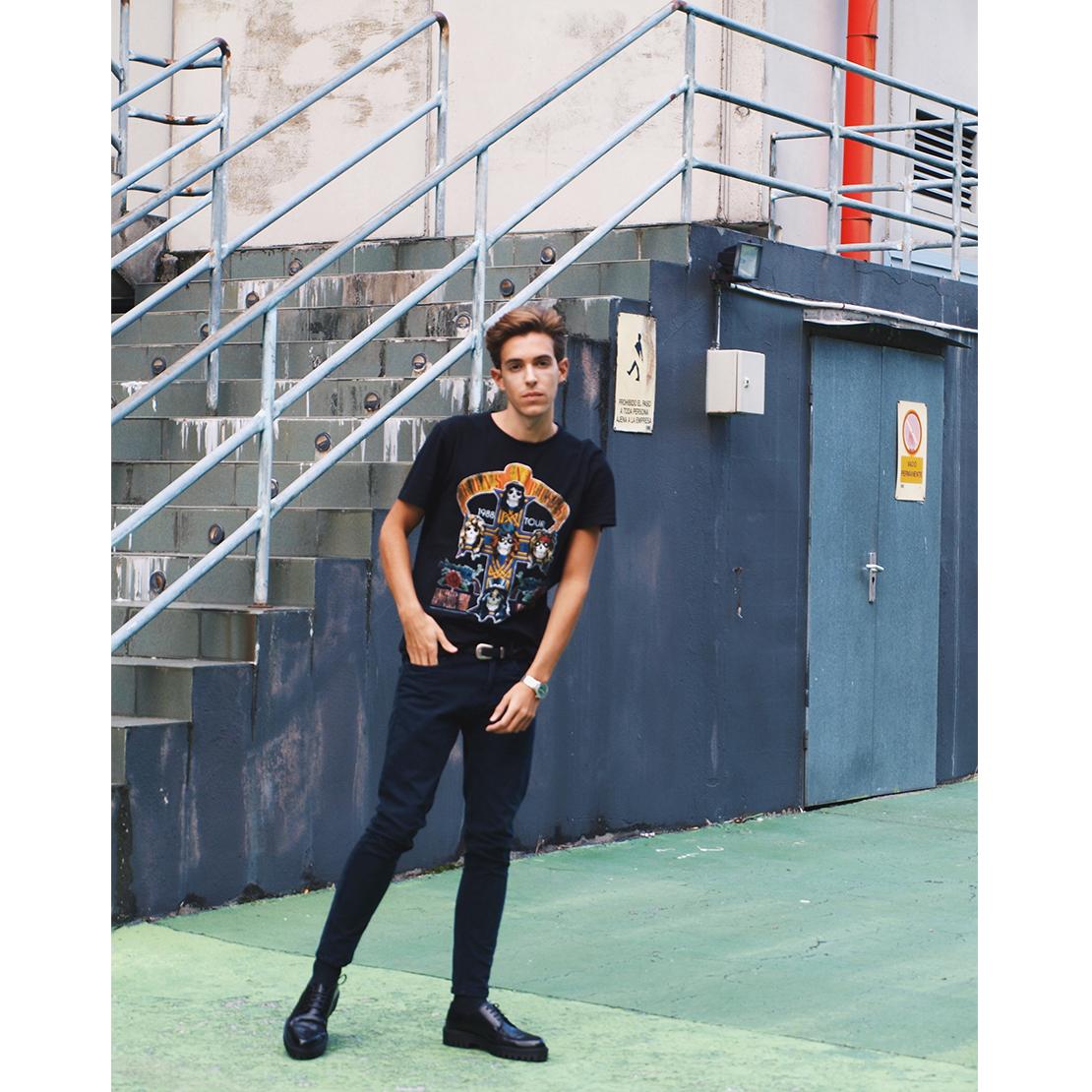 gunsroses-tshirt-coastalandco-blog-blogger-hendaye-westernbelt-platformshoes-skinny