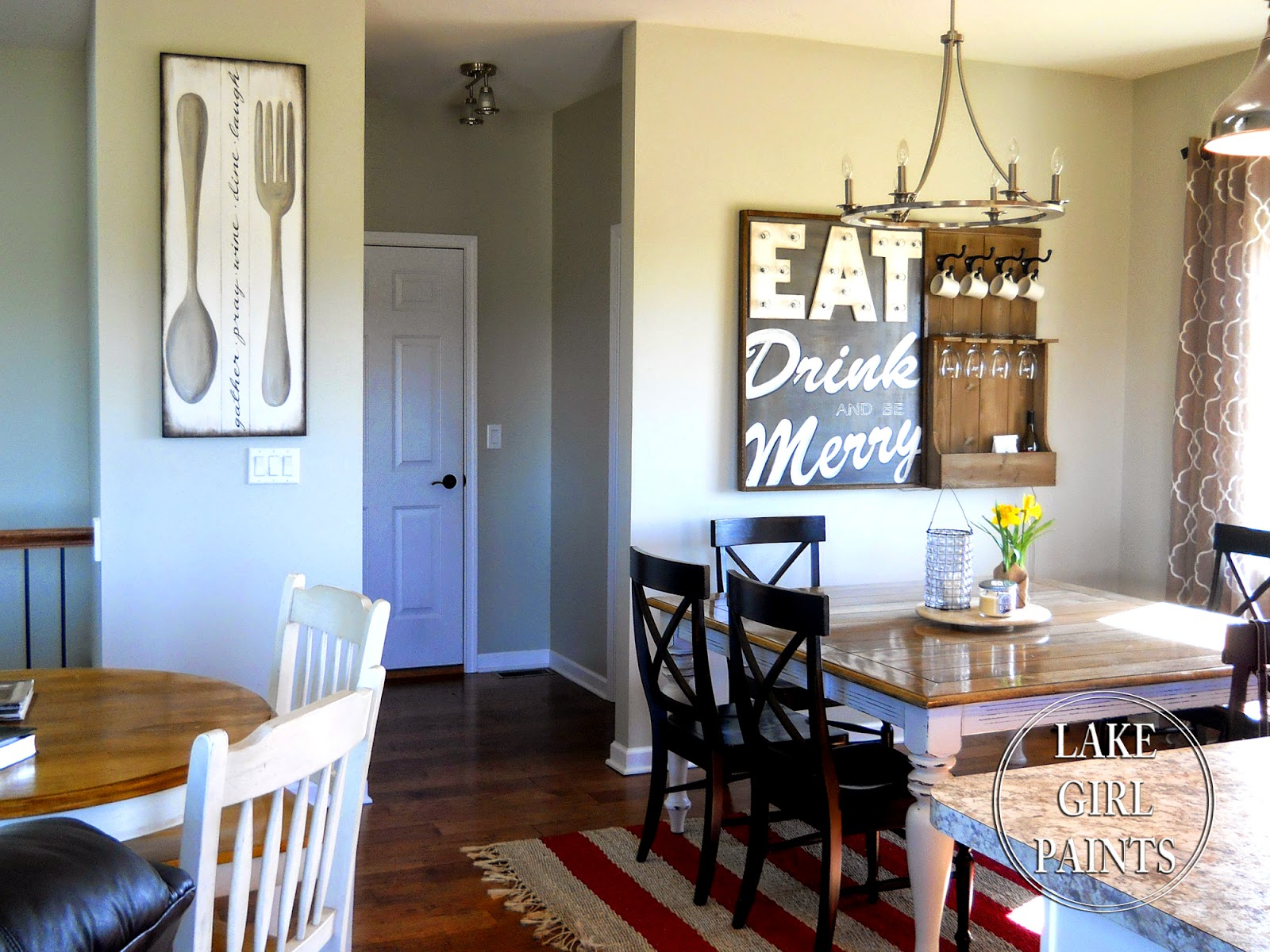 Lake girl paints making dining room wall art for Dining room art