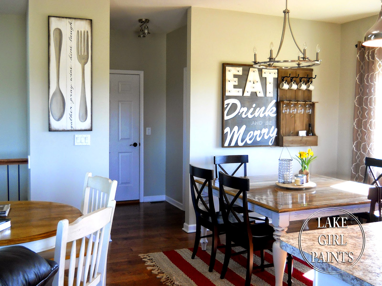 Lake Girl Paints: Making Dining Room Wall Art