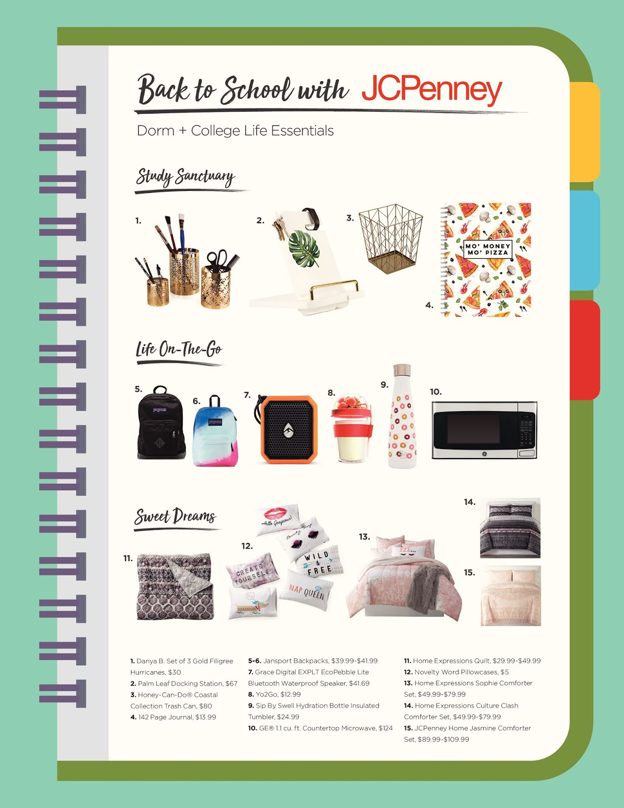 Back to School Dorm and College Life Essentials with JCPenney  via  www.productreviewmom.com