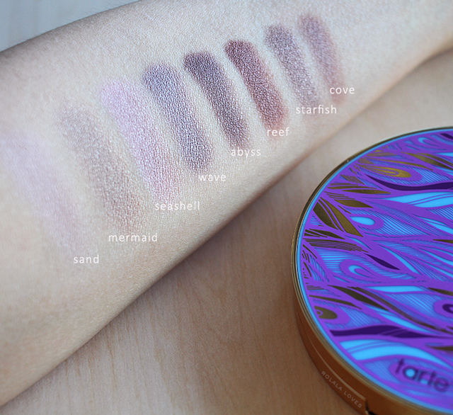 Tarte Rainforest of the Sea Eyeshadow Palette Review, Tarte Rainforest of the Sea Eyeshadow Swatches, Tarte Rainforest of the Sea, Tarte Eyeshadow, Tarte Eyeshadow Review