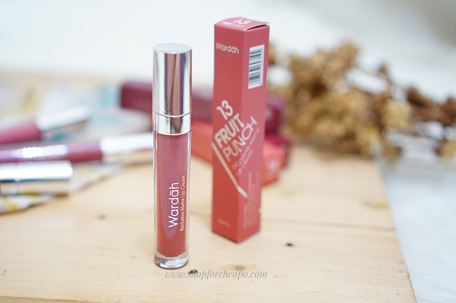 wardah exclusive matte lip cream new colors swatch review
