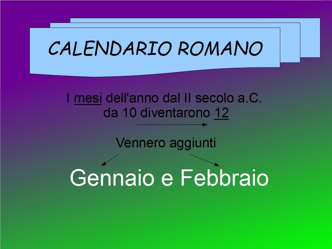 Il Calendario Romano.The School World Il Calendario Romano