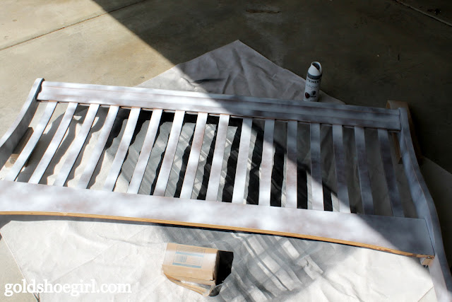 Gold Bed Frame Created With Spray Paint: Gold Shoe Girl: A Bed Makeover