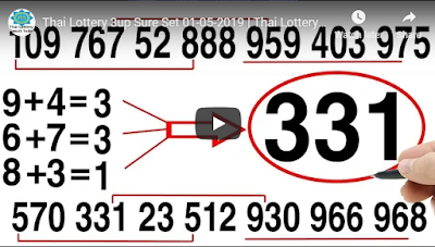 Thai lottery 3up sure number formula papers tips 01 May 2019