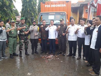 KPU Muba Distribusikan Logistik Pemilu
