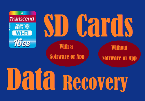 The Secure Digital Cards(SD Cards)-How to recover data