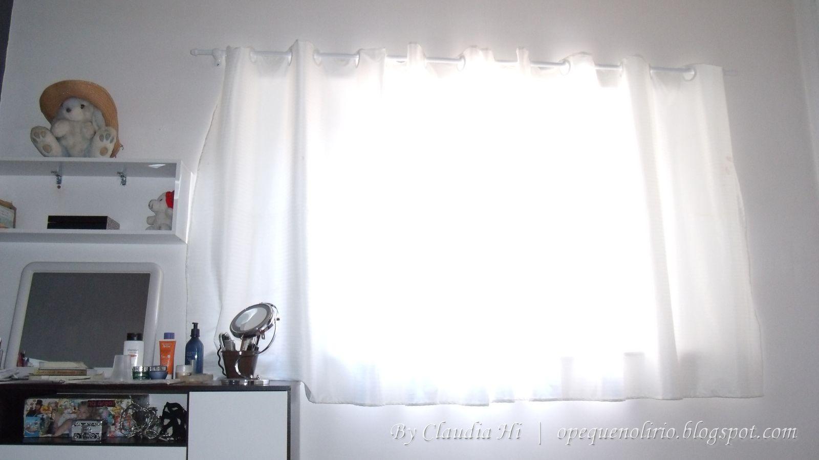 passo a passo, diy, room curtain, cortina de quarto, branco